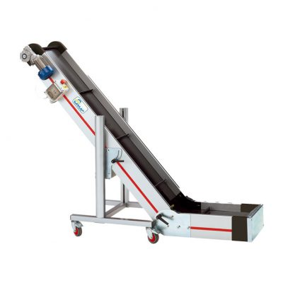 Plastic part belt conveyor