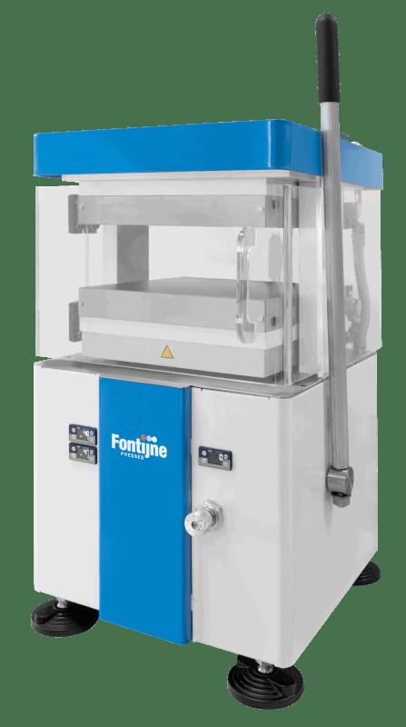 Manual heated platen press